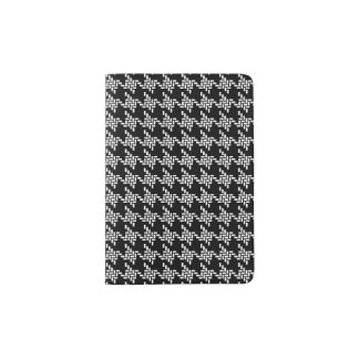 Black And White Houndstooth Pattern Passport Holder