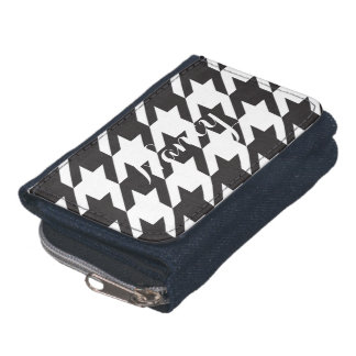 Black and White Houndstooth Wallet