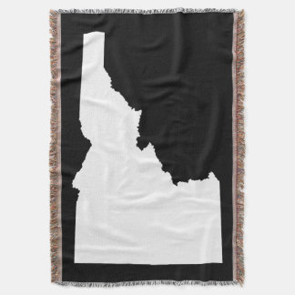 Black and White Idaho Shape Throw Blanket