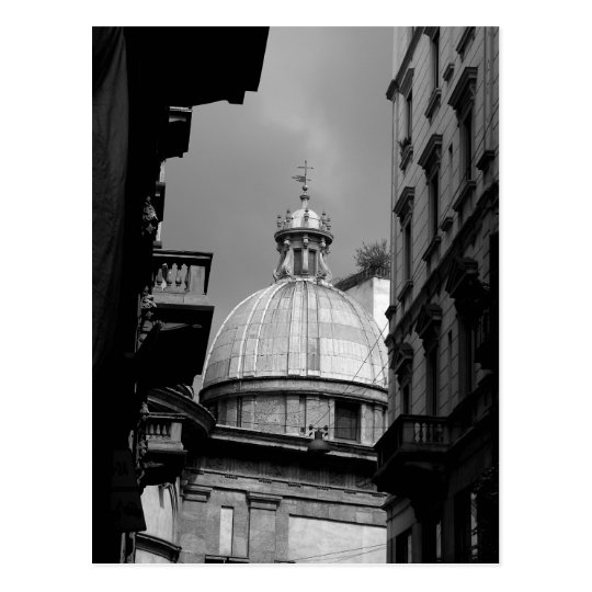 Black and White image Back streets of Milan
