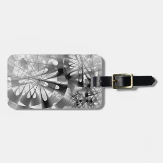 Black And White Industrial Abstract Luggage Tag