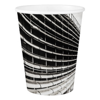 Black and white industrial building Paper Cup