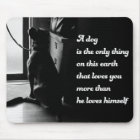Black and White Inspirational Dog Photo Mouse Mat