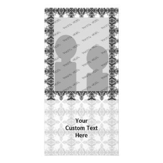 Black and White Intricate Pattern. Picture Card