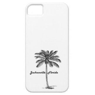 Black and White Jacksonville & Palm design Case For The iPhone 5