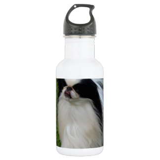 Black and White Japanese Chin 532 Ml Water Bottle