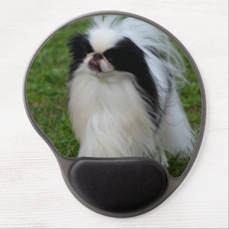 Black and White Japanese Chin Gel Mouse Mat