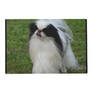 Black and White Japanese Chin Laminated Place Mat