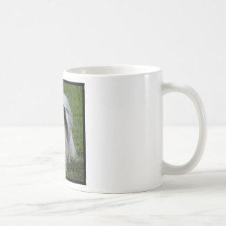 Black and White Japanese Chin Coffee Mugs