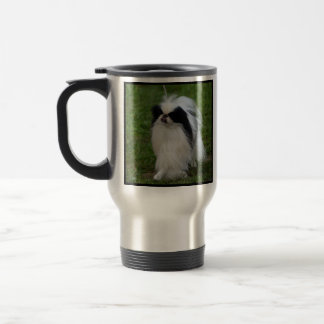 Black and White Japanese Chin Coffee Mug