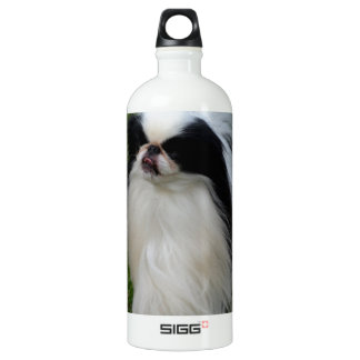 Black and White Japanese Chin SIGG Traveller 1.0L Water Bottle