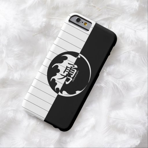 Black and White Japanese Font Courage iPhone 6 Case