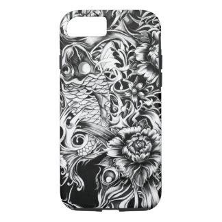 Black and white Japanese Koi tattoo art. iPhone 7 Case