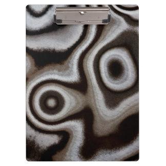 Black and white Jasper stone Clipboard