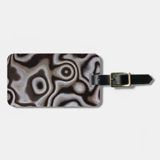 Black and white Jasper stone Luggage Tag