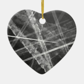 Black and white Jet Trails Christmas Ornament