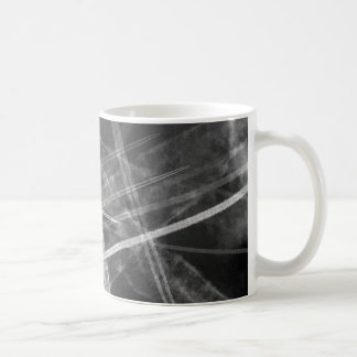 Black and white Jet Trails Coffee Mug