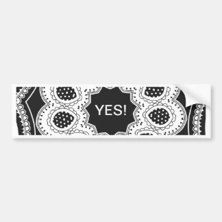 Black and White Kaleidoscope 4 Bumper Sticker