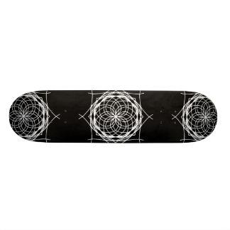 Black and White Kaleidoscope Art Skateboard