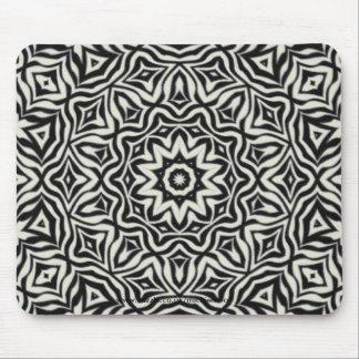 Black and White Kaleidoscope Design Mousemat