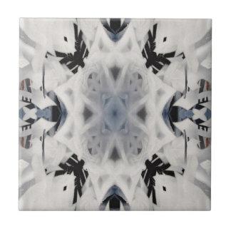 Black and white kaleidoscope graffiti tile