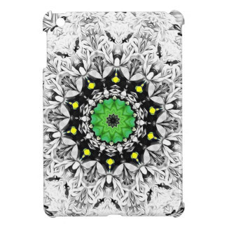 Black and White Kaleidoscope iPad Mini Case