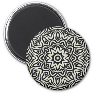 Black and White Kaleidoscope Magnet