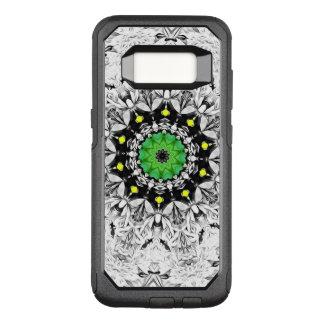 Black and White Kaleidoscope OtterBox Commuter Samsung Galaxy S8 Case