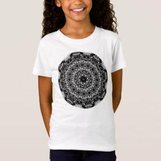 BLACK AND WHITE KALEIDOSCOPIC GEOMETRIC MANDALA T-Shirt