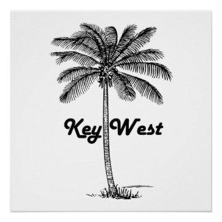 Black and White Key West Florida & Palm design