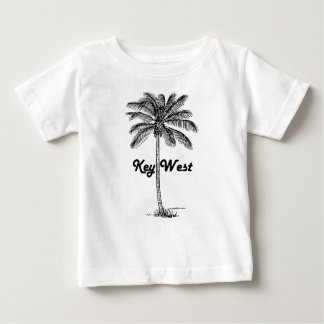 Black and White Key West Florida & Palm design Baby T-Shirt