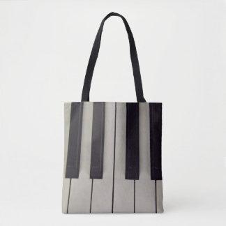 Black and White Keys Tote Bag