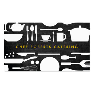 BLACK AND WHITE KITCHEN COLLAGE No 4 Business Card Template