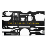 BLACK AND WHITE KITCHEN COLLAGE No. 4 Pack Of Standard Business Cards