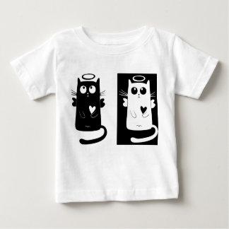 Black and White Kitten Angels - Baby T-Shirt
