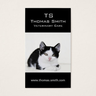 Black and White Kitten Business Card