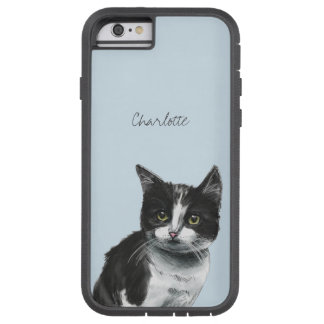 Black and White Kitten Drawing Tough Xtreme iPhone 6 Case