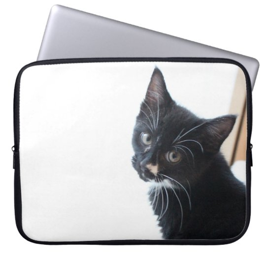 Black and White Kitten Laptop Sleeve