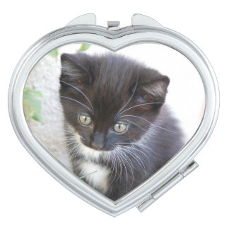 Black and White Kitten Mirror For Makeup