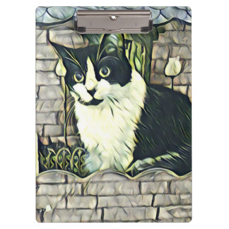 Black and White Kitty 1 Clipboard