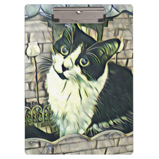 Black and White Kitty 2 Clipboard