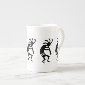 Black And White Kokopelli Southwest Tea Cup