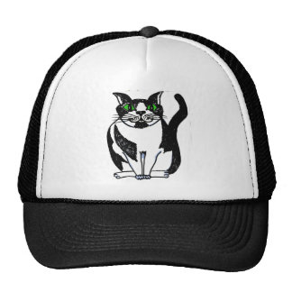 Black and White KwazyKatz png Trucker Hat