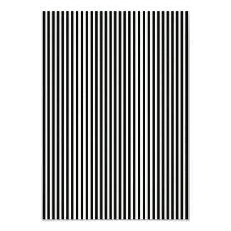Black and White Lace Cap Cabana Stripe Pattern 9 Cm X 13 Cm Invitation Card