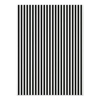 Black and White Lace Cap Cabana Stripe Pattern 14 Cm X 19 Cm Invitation Card