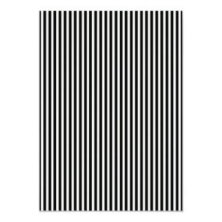 Black and White Lace Cap Cabana Stripe Pattern 13 Cm X 18 Cm Invitation Card