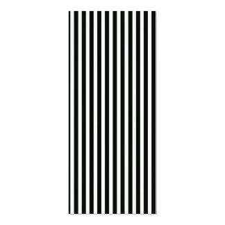Black and White Lace Cap Cabana Stripe Pattern 10 Cm X 24 Cm Invitation Card