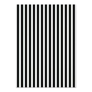 Black and White Lace Cap Cabana Stripe Pattern 11 Cm X 16 Cm Invitation Card