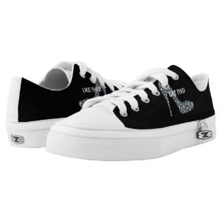 Black and white ladies sneakers