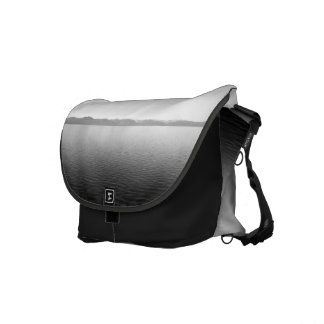 Black And White Landscape 10 Messenger Bags